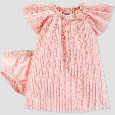 Baby Girls' Lace Dress - Just One You® made by carter's Pink 3M
