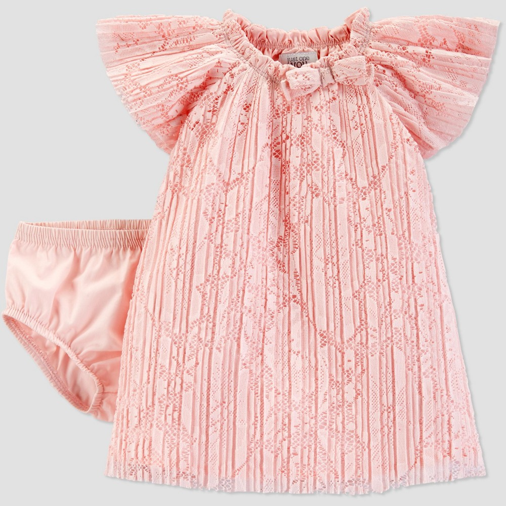 Baby Girls' Lace Dress - Just One You made by carter's Pink Newborn