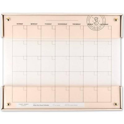 "20""x16"" Glass Dry Erase Calendar - Sugar Paper™"