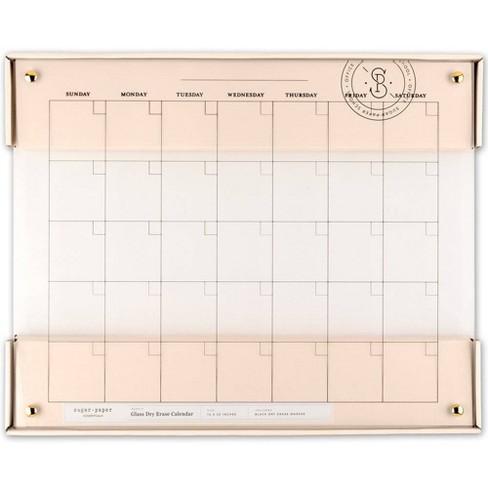 """20"""" x 16"""" Glass Dry Erase Calendar - Sugar Paper Essentials™ - image 1 of 4"""