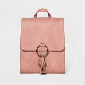 Flap Backpack with Tassel - Universal Thread™ Blush