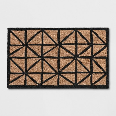 Black Geometric Doormat 1'6 X2'6  - Threshold™