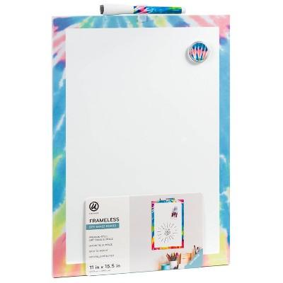 "U Brands 11""x15.5"" Frameless Dry Erase Board Tie Dye"