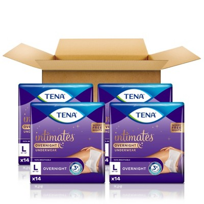 TENA Incontinence Underwear for Women for Overnight - L - 56ct