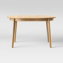 Astrid Mid Century Round Dining Table with Extension Leaf - Project 62™