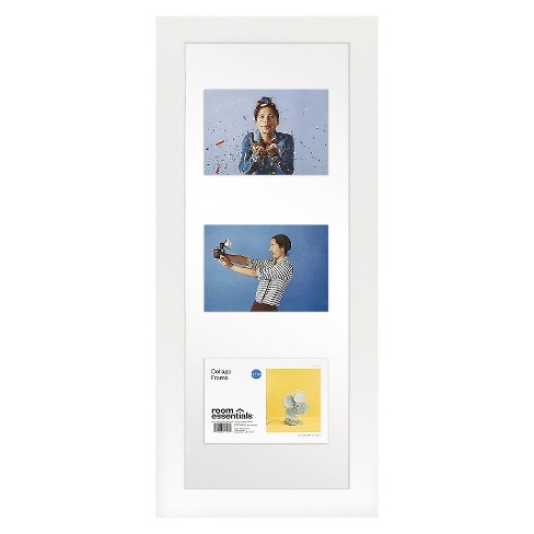 Float Frame White 10x26 Glass for 3 - 5x7 Photos - Room Essentials ...