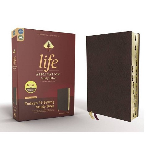 Niv, Life Application Study Bible, Third Edition, Bonded Leather, Burgundy, Indexed, Red Letter Edition - image 1 of 1