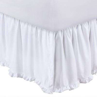 "Greenland Home Fashion Sasha White Bed Skirt Drop 15"""
