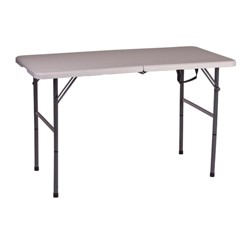 """Stansport Folding Camping Table With Adjustable Height 48"""" x 24"""""""