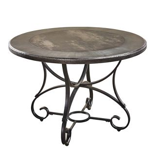 Graystone Round Dining Table Gray - Steve Silver