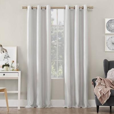Bardot Dupioni Faux Silk 100% Blackout Grommet Curtain Panel - Sun Zero