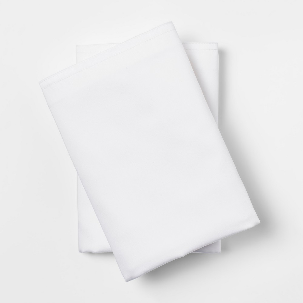 Standard 300 Thread Count Modern Solid Pillowcase Set White - Project 62 + Nate Berkus