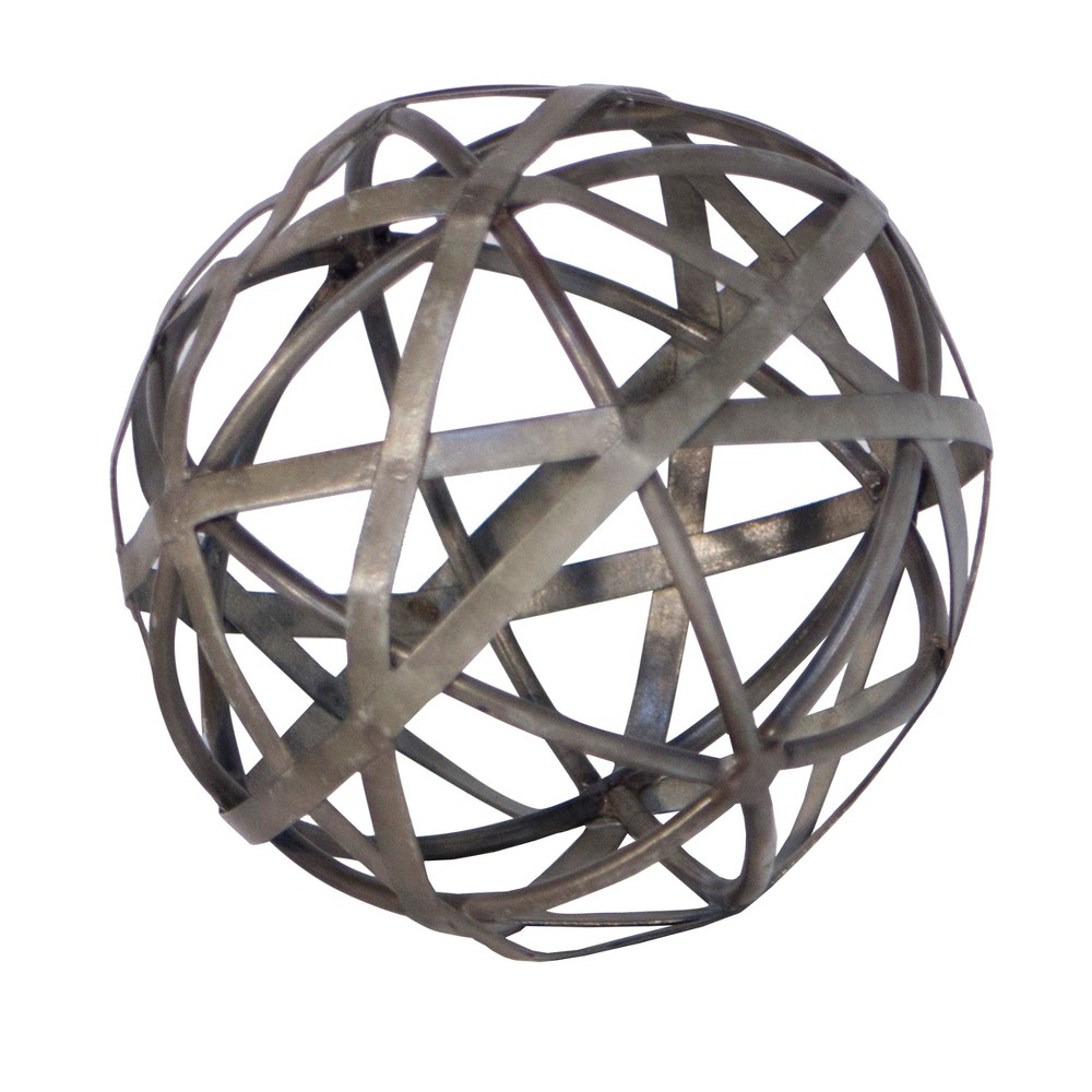 "Image of ""Decorative Metal Galvanized Ball (5"""") - VIP Home & Garden"""