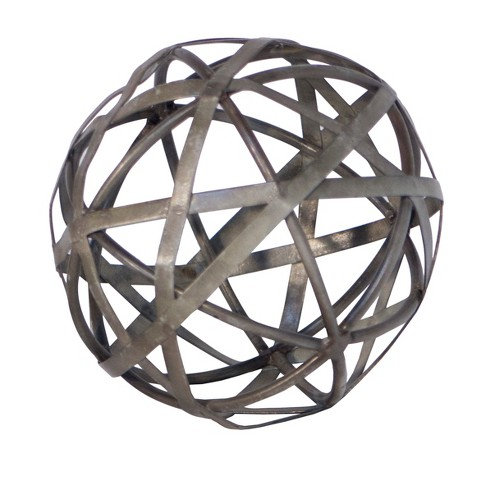 "Decorative Metal Galvanized Ball (5"") - VIP Home & Garden - image 1 of 1"