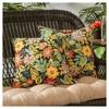 Set of 2 Jungle Floral Outdoor Square Throw Pillows - Kensington Garden - image 2 of 3