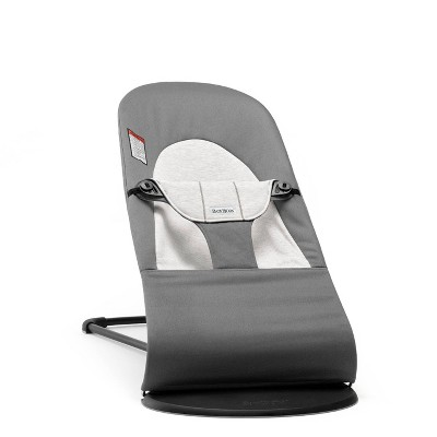 BABYBJÖRN Bouncer Balance Soft in Cotton/Jersey - Dark Gray/Gray