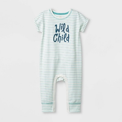 Baby Boys' Jersey Romper - Cat & Jack™ Cream 3-6M