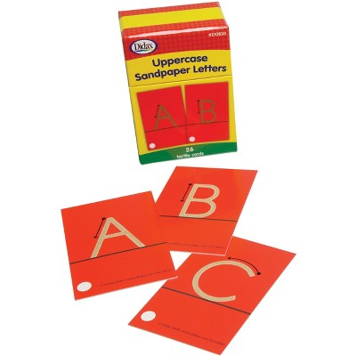 Didax Special Needs Fine Uppercase Tactile Sandpaper Letters, Gr PreK-1, set of 26