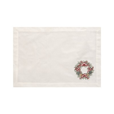 C&F Home Pineapple Wreath Cotton Reversible Machine Washable Placemat