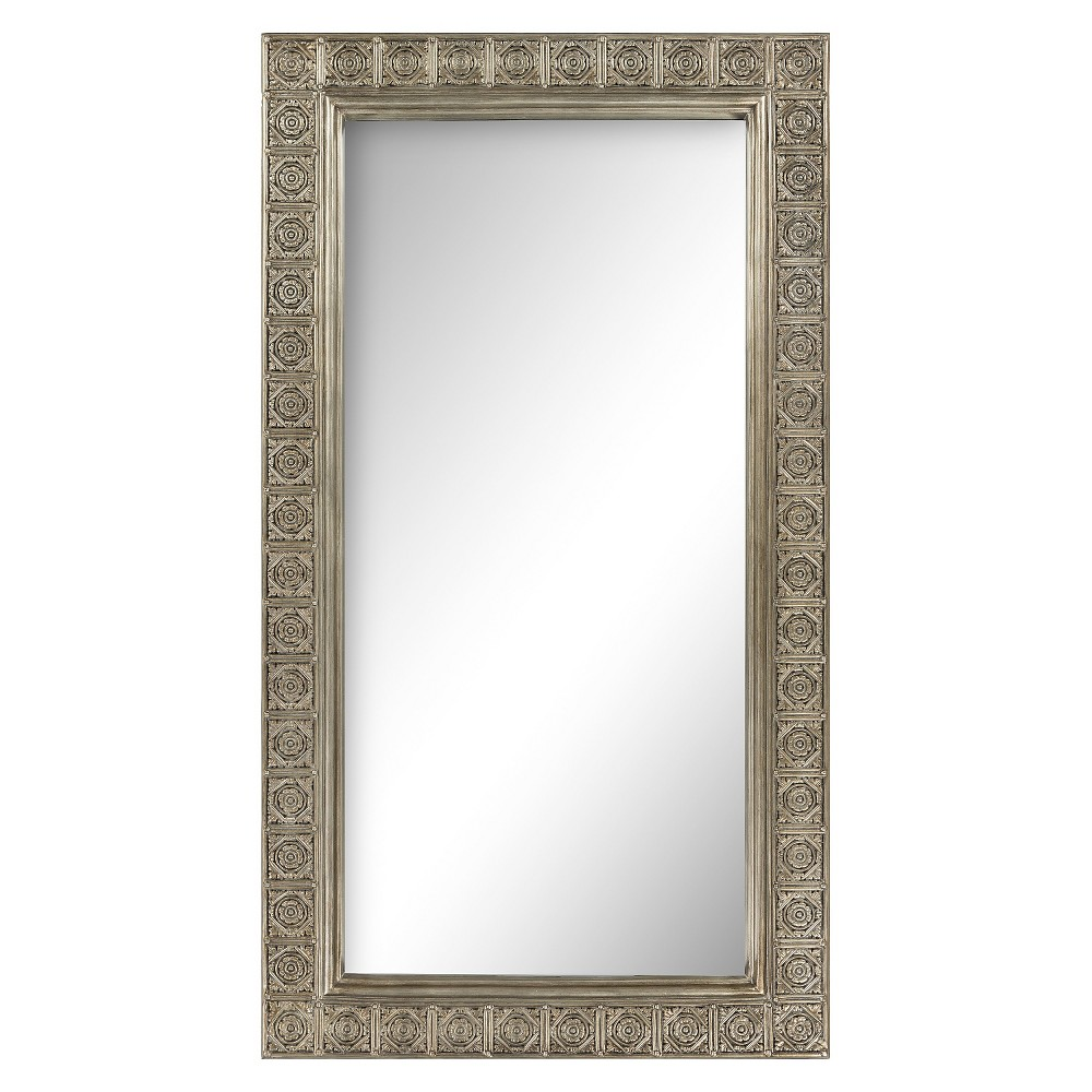 Rectangle Audeley Decorative Wall Mirror Silver - Surya, Bronze