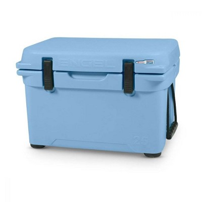 Engel 5.2 Gallon 24 Can 25 High Performance Roto Molded Ice Cooler, Arctic Blue