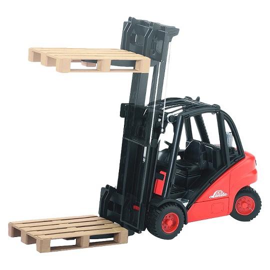 Bruder Linde H30D Forklift with 2 Pallets image number null