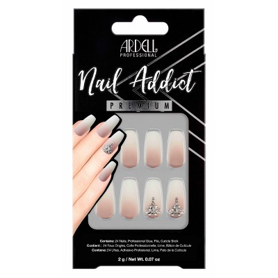 Ardell Nail Addict False Nails - Rich Tan Ombre - 24ct