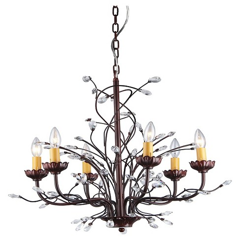 Warehouse Of Tiffany Chandelier Ceiling Lights -Maroon - image 1 of 1