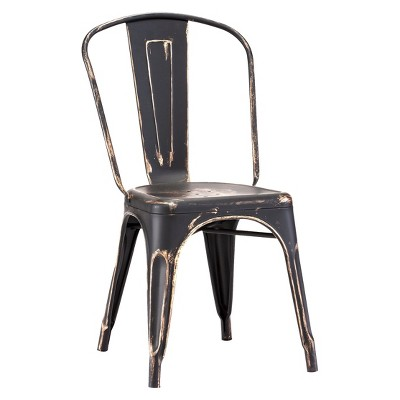 Industrial Style Metal Dining Chairs (Set of 2) - ZM Home
