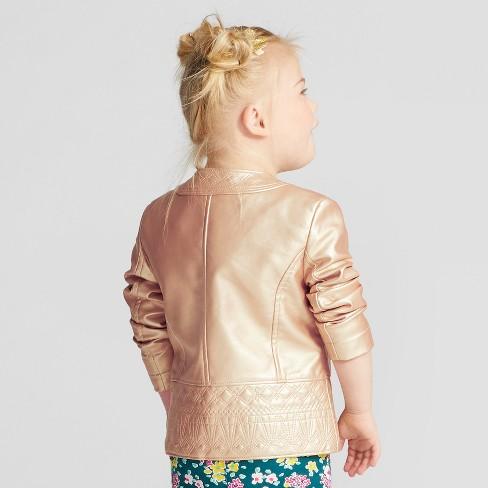 d8c5965cc Toddler Girls  Moto Jacket - Genuine Kids® From OshKosh Gold   Target