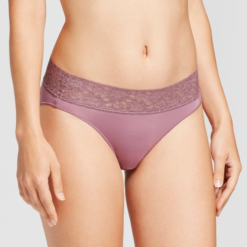 1b8d30188b Hanes Women s Invisible Lace Waistband Microfiber Bikini 4pk LW42AS (Colors  May Vary)
