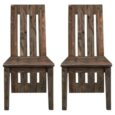Genial Brownstone Dining Chairs (Set Of 2)   Nut Brown   Treasure Trove