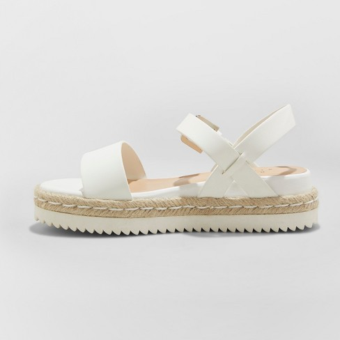 00a8f4b8fe5 Women s Rianne Espadrille Ankle Strap Sandals - A New Day™ White 12 ...