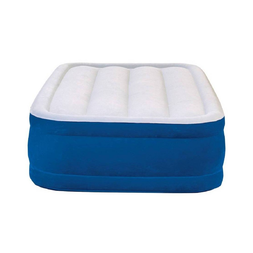 "Image of ""Simmons Beautyrest Plushaire 17"""" Twin Air Mattress with Electric Pump - Blue"""