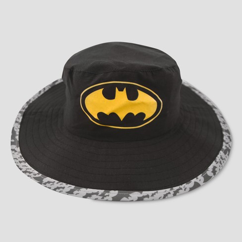 Toddler Boys' DC Comics Batman Safari Sun Hat - Black One Size - image 1 of 4