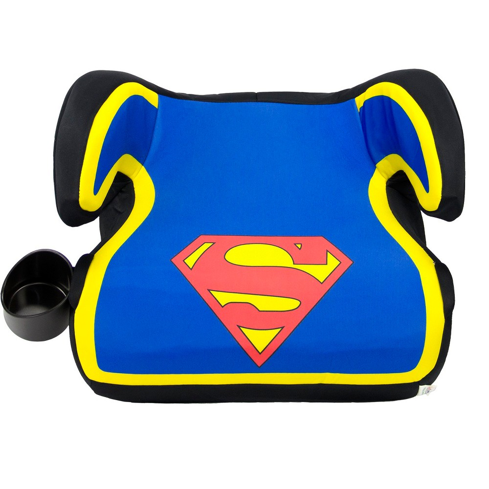 Image of KidsEmbrace DC Comics Superman Backless Booster Car Seat, Yellow Red Black Blue