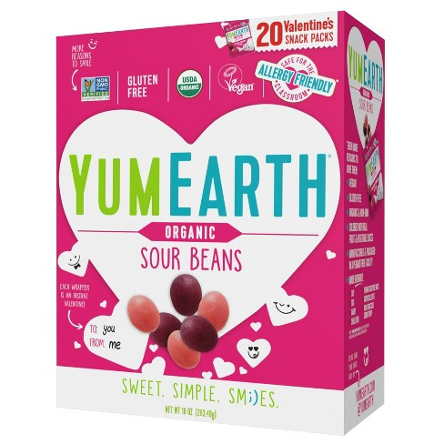 YumEarth Organic Valentine Exchange Sour Beans Box - 10oz/20ct - image 1 of 1