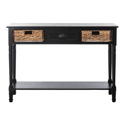 Christa Console Table Distressed Black - Safavieh