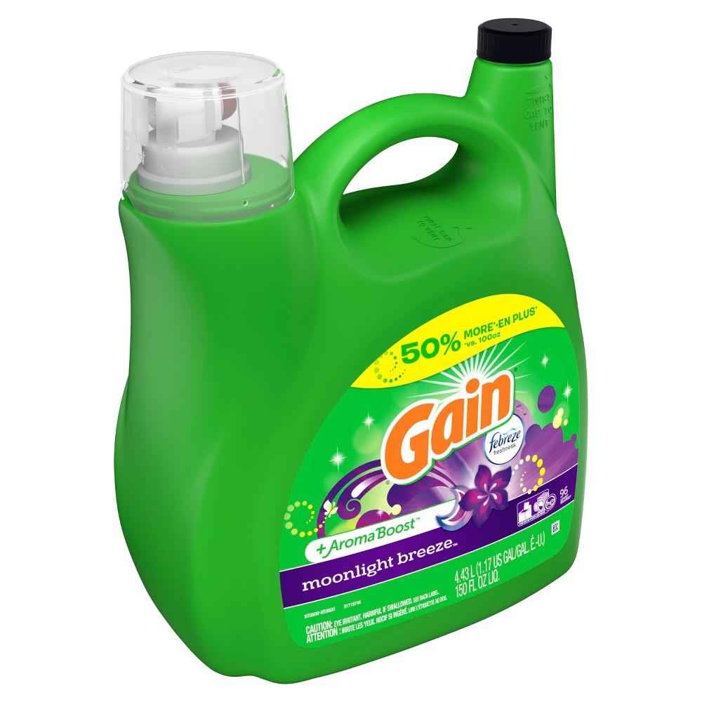 Gain 2X Moonlight Breeze Liquid Laundry Detergent - 150 fl oz