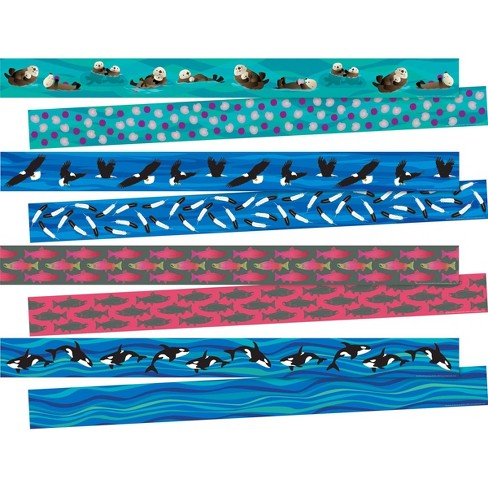 Barker Creek 140ft 4 Designs Sea and Sky Double Sided Trimmer Set - image 1 of 4