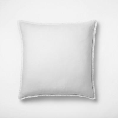 Euro Heavyweight Linen Blend Throw Pillow Light Gray - Casaluna™