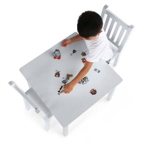 Kids Square Table & 2 Chairs. Large - Daylight Collection - White - Tot Tutors - image 1 of 3