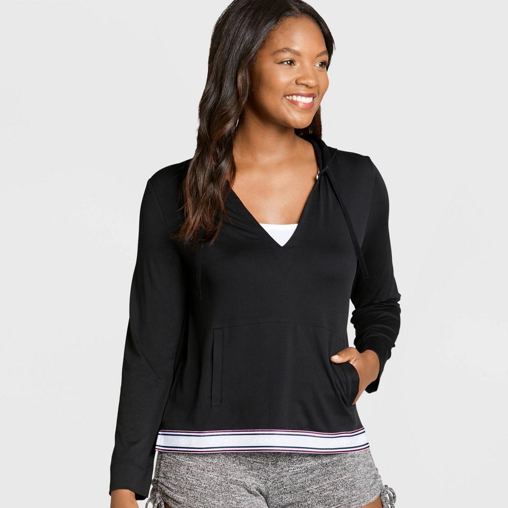 Image of Jockey Generation Women's Retro Vibes Hooded Sleep Sweatshirt - Black L, Women's, Size: Large