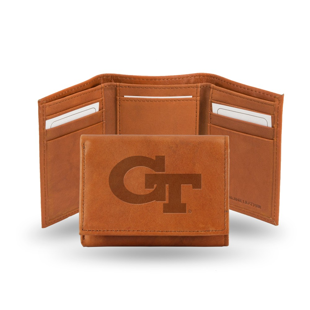 Georgia Tech Yellow Jackets Rico Industries Embossed Leather Trifold Wallet