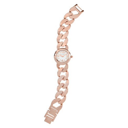 Women's Journee Collection Round Face Chain Link Watch - image 1 of 2