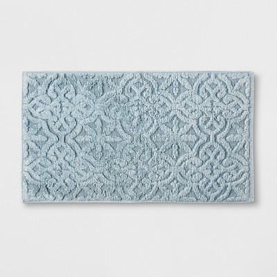 Stonewash Medallion Bath Rug (20 x34 )Blue - Threshold™