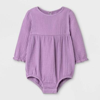 Grayson Mini Baby Girls' Cotton Gauze Bubble Romper - Light Purple