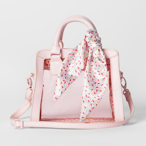 Girls' Top Handle Crossbody Bag - art class™ Pink - image 1 of 2
