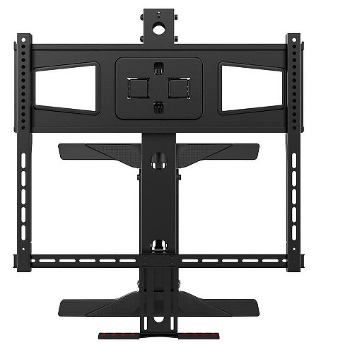 """Monoprice Above Fireplace Height Adjustable Swivel TV Pull Down Mantel Wall Mount for LCD LED Plasma Screen Displays 40""""to 63""""   Maximum weight 70lbs - image 1 of 4"""