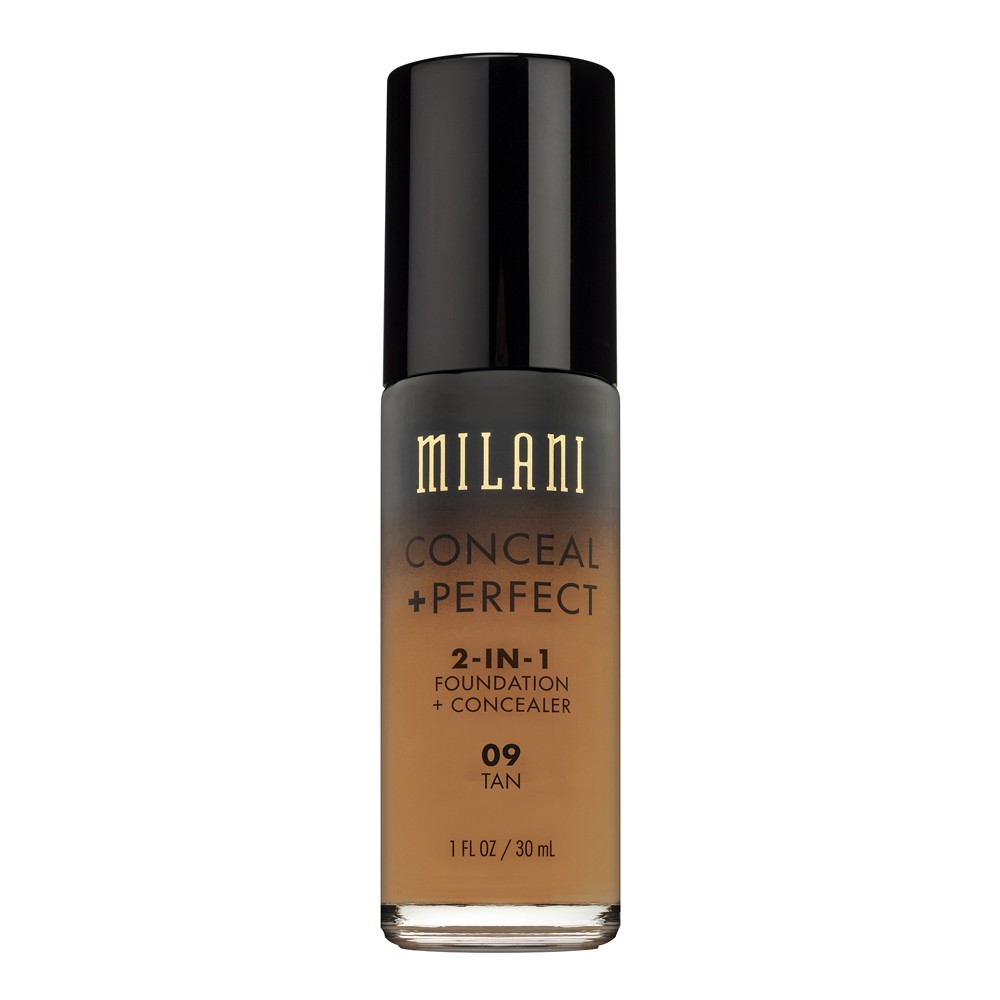 Milani Conceal + Perfect 2-in-1 Foundation 09 Tan - 1fl oz